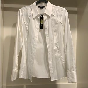 NWT white button down